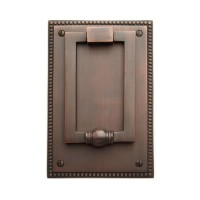 Tolstoy Door Knocker, rubbed bronze