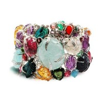 Tutti Frutti Gemstone White Gold Ring