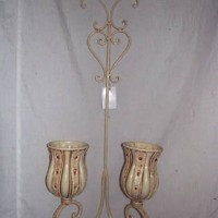 Two Candle Wall Sconce, white