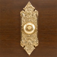 Vierges Doorbell, polished brass