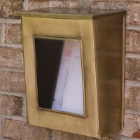 Viewing Panel Brass Mailbox