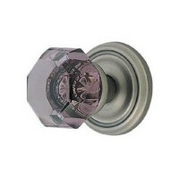 Violet Crystal Door Knob Set