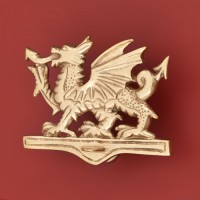 Welsh Dragon Door Knocker, brass