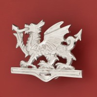 Welsh Dragon Door Knocker, chrome