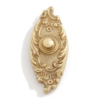 Whimsical Brass Doorbell, polished brass