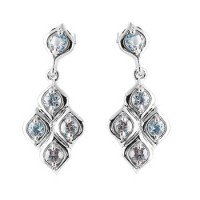 White Gold Chandelier Earrings