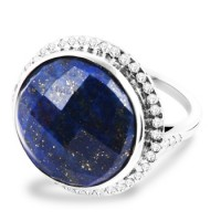 White Gold Lapis Ring