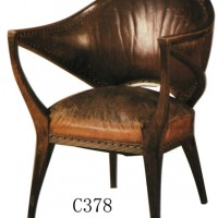 Wraparound Leather Office Chair
