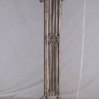 Wrought Iron Column Plant Stand