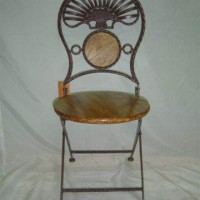Wrought Iron Folding Chair