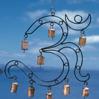 Wrought Iron Om Windchime