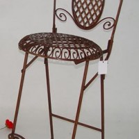 Wrought Iron Rose Garden Barstool