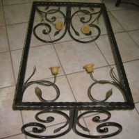 Wrought Iron Tulip Table
