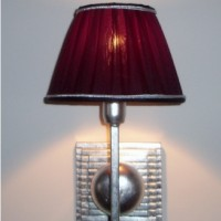 1 Light Silver Wall Lamp
