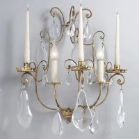 2 Light Bohemia Sconce with Candles