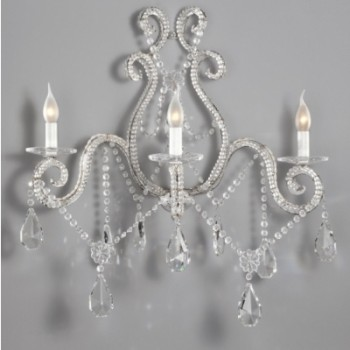 3 Light Crystal Sconce Article 429