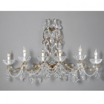 6 Light Sconce with Crystals Article 8012