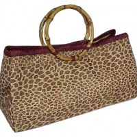 Animal Print Raffia Satchel