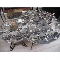 Antique Mirrored Table