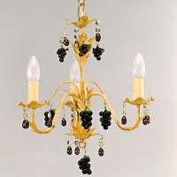 Article 100 3 Light Chandelier with Grapes