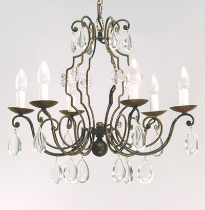 Article 122 Bohemian 6 Light Chandelier
