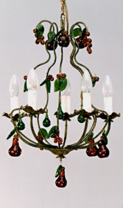 Article 136 5 Light Chandelier with Fruits