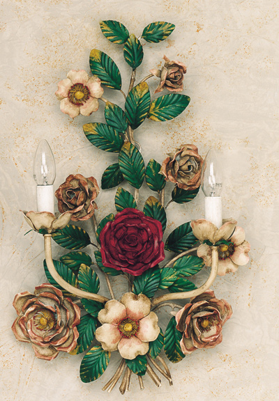 Article 143 Sconce with Big Roses