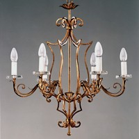 Article 159 6 Light Forged Chandelier