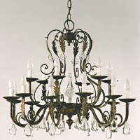 Article 1976 18 Light Crystal Chandelier