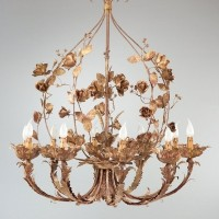 Article 380 10 Light Chandelier with Roses