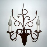 Article 392 2 Light Forged Sconce