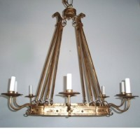Article 454 8 Light Wrought Chandelier
