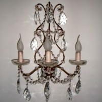Article 81169 3 Light Crystal Sconce
