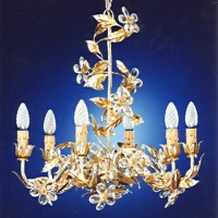 Article 8360 6 Light Stars Chandelier