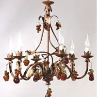 Article 9509 6 Light Forged Chandelier