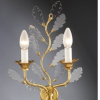 Article A5 Sconce with Crystal Leaves
