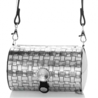 Basket Weave Aluminum Purse