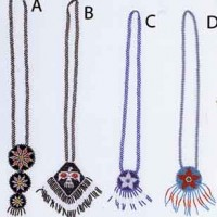 Beaded Rosette Necklaces