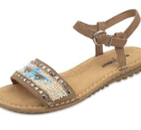 Beaded Summer Sandals, tan