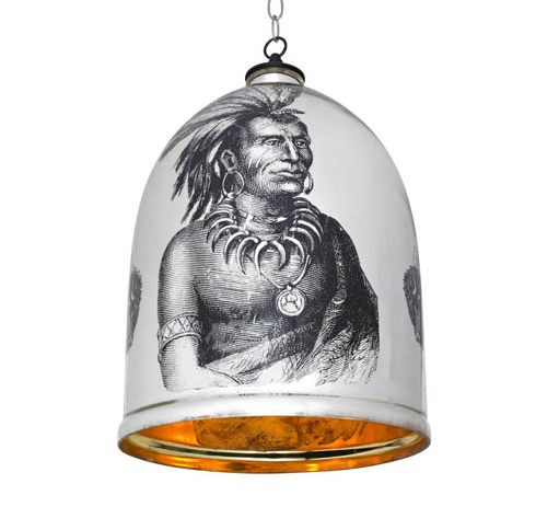 Bell Jar with Native American 14 inches x 23 inches