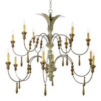 Belvedere Chandelier 50 inches x 37 inches