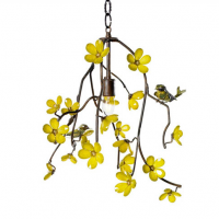 Bird and Blossom Chandelier 19 inches x 20 inches