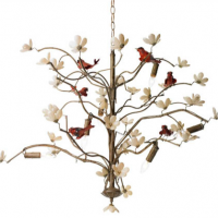 Bird and Blossom Chandelier 36 inches x 28 inches