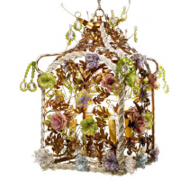 Birdcage Light 14 inches x 14 inches x 21 inches