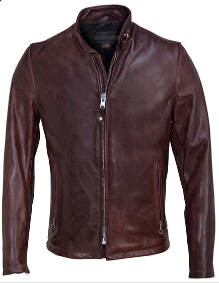 Black Cherry Leather Racer Jacket