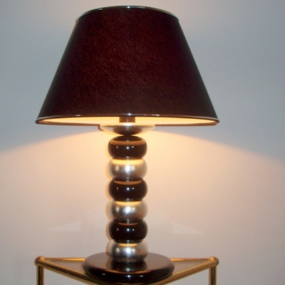 Black and Silver Table Lamp