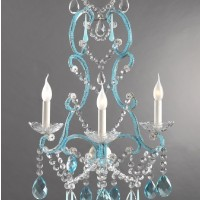 Blue 3 Light Sconce