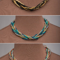Braided Bead Necklaces