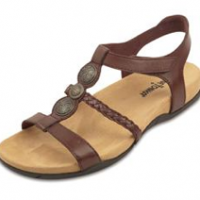 Braided Leather Sandals, brown
