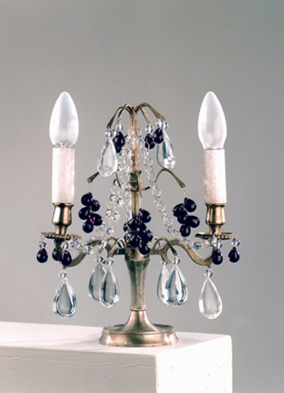 Brass Lamp with Fruit